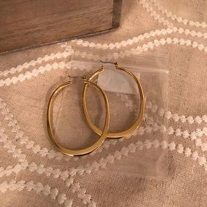 NEW! Premier Designs Goldtone Hoop Earrings